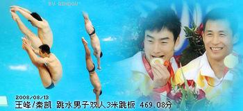 王峰/秦凯 跳水 男子3米板双人